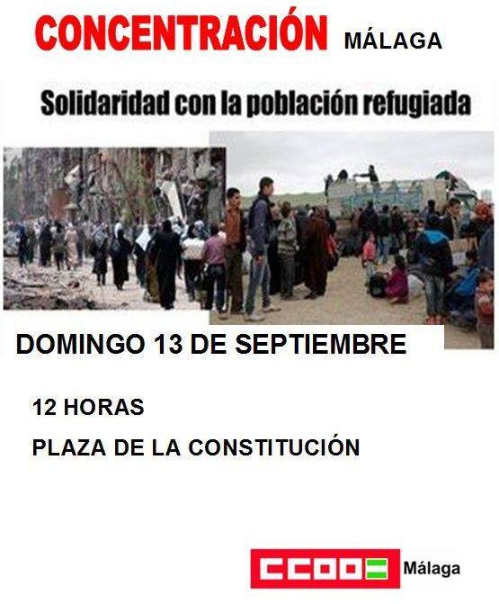 concentracion ccoo malaga 12 septiembre